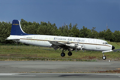 Everts Air Cargo Douglas DC-6B (F) N6586C (msn 45222) ANC (Michael B. Ing). Image: 903302.