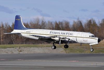 Everts Air Fuel Douglas DC-6B (F) N6586C (msn 45222) ANC (Robbie Shaw). Image: 933830.