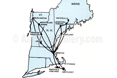 Executive Airlines route map (1973)