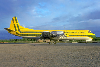 Fairbanks Air Lockheed 188C(F) Electra N402FA (msn 1085) FAI (John B. Hayes - Bruce Drum Collection). Image: 936442,
