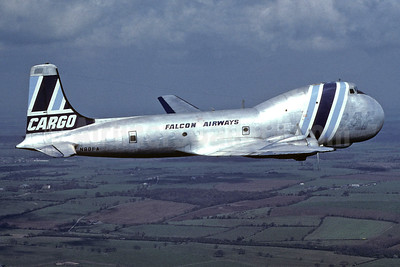 Falcon Airways (USA) Aviation Traders ATL-98 Carvair N80FA (msn 10273) SEN (Richard Vandervord). Image: 902475.