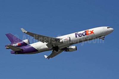 FedEx-Federal Express McDonnell Douglas MD-11 (F) N588FE (msn 48490) ANC (Michael B. Ing). Image: 903538.