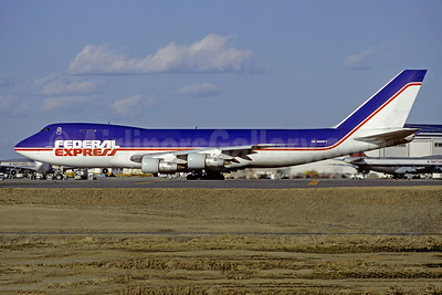 The only Boeing 747 to be painted in full Federal Express colors