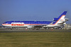 "Rare photo of ""Joshua"", delivered on September 22, 1993, crashed at Newark on July 31, 1997"