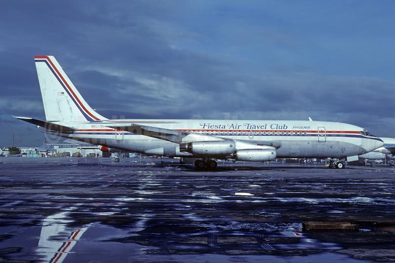 Fiesta Air Travel Club Boeing 720-022 N62215 (msn 18080) MIA (Bruce Drum). Image: 103702.