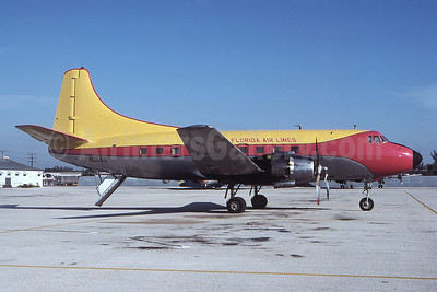 Florida Air Lines (2nd) Martin 404 N255S (msn 14246) (Shawnee Airlines colors) MIA (Bruce Drum). Image: 100432.