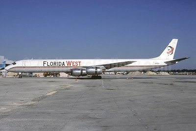 Florida West International Airways (2nd) McDonnell Douglas DC-8-71 (F) N872SJ (msn 46040) MIA (Christian Volpati Collection). Image: 911220.