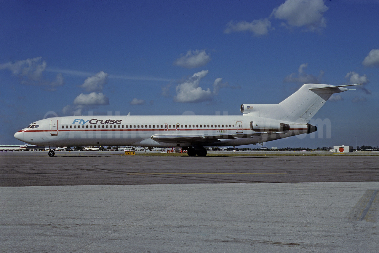 FlyCruise (Carnival Air Lines) Boeing 727-225 N8861E (msn 20623) MIA (Bruce Drum). Image: 103440.