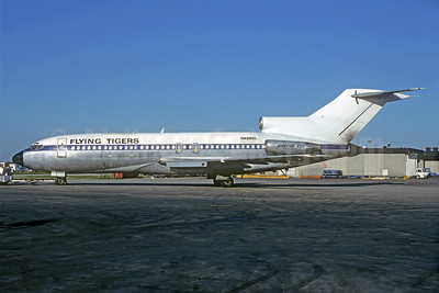 Flying Tigers Boeing 727-30C N4585L (msn 19010) (Lufthansa colors) (Christian Volpati Collection). Image: 931303.