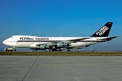 Flying Tigers Boeing 747-212B N748TA (msn 20713) (Metro International colors) CDG (Christian Volpati). Image: 911704.