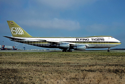 Flying Tigers Boeing 747-245F N704SW (msn 21841) (Seaboard World colors) CDG (Christian Volpati). Image: 907479.