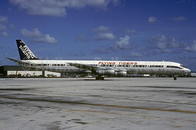 Flying Tigers McDonnell Douglas DC-8-61 (F) N868FT (msn 45950) MIA (Bruce Drum). Image: 102739.