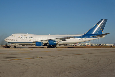 Focus Air Cargo Boeing 747-236B (SF) N361FC (msn 22442) MIA (Bruce Drum). Image: 100428.