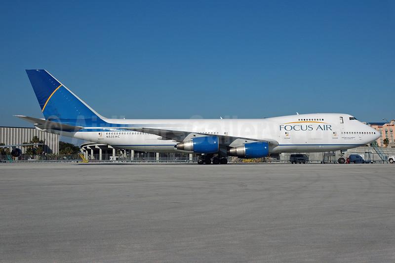 Focus Air Cargo Boeing 747-2F6B (SF) N535MC (msn 21833) MIA (Bruce Drum). Image: 100429.