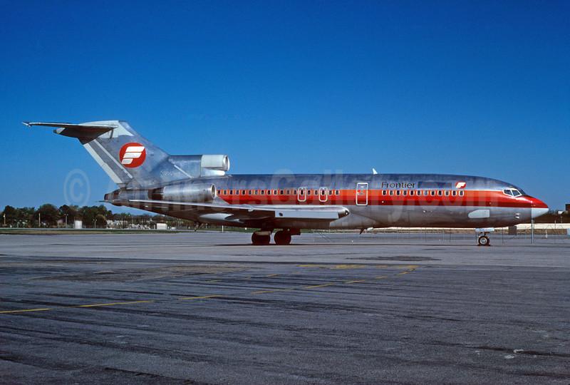 Frontier Airlines (1st) Boeing 727-23 N1955 (msn 19431) (Frontier Horizon colors) ATL (Norbert G. Raith). Image: 907641.