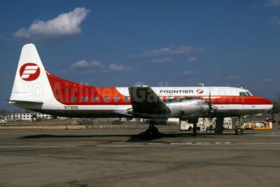 Frontier Airlines (1st) Convair 580 N73156 (msn 186) SLN (Steve Bailey). Image: 922786.