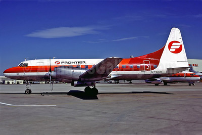 Frontier Airlines (1st) Convair 580 N73160 (msn 336) DEN (Perry Hoppe). Image: 911074.