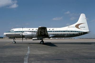 Frontier Airlines (1st) Convair 580 N73163 (msn 366) DAL (Bruce Drum). Image: 105571.