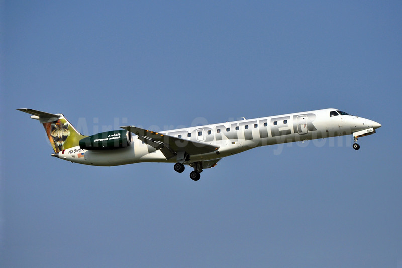 Frontier Airlines (2nd)-Chautauqua Airlines Embraer ERJ 145LR (EMB-145LR) N269SK (msn 145293) (Raccoon) MKE (Ron Kluk). Image: 907176.