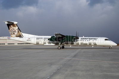 Frontier Airlines (2nd) (Lynx Aviation) Bombardier DHC-8-402 (Q400) N510LX (msn 4186) (Bobcat) DEN (TMK Photography). Image: 903409.