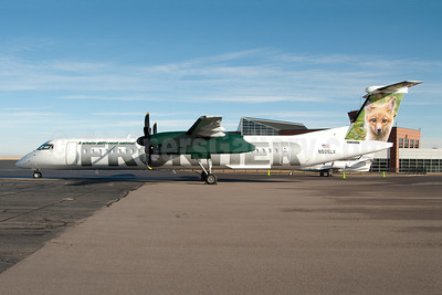 Frontier Airlines (2nd) (Lynx Aviation) Bombardier DHC-8-402 (Q400) N505LX (msn 4174) DEN (Fred Freketic). Image: 949932.