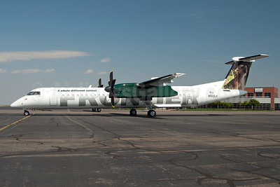 Frontier Airlines (2nd) (Lynx Aviation) Bombardier DHC-8-402 (Q400) N502LX (msn 4168) DEN (Fred Freketic). Image: 949929.
