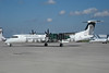Frontier Airlines (2nd) (Lynx Aviation) Bombardier DHC-8-402 (Q400) C-FXJC (N511LX) (msn 4265) (Owl) DEN (Bruce Drum). Image: 906406.