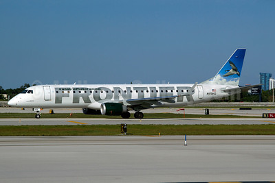 Frontier Airlines (2nd)-Republic Airlines (2nd) Embraer ERJ 190-100 IGW N175HQ (msn 19000216) (Canada Goose) FLL (Luimer Cordero). Image: 907910.