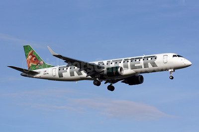 Frontier Airlines (2nd)-Republic Airlines (2nd) Embraer ERJ 190-100 IGW N161HL (msn 19000154) (Fawn) DCA (Brian McDonough). Image: 906107.