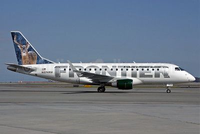 Frontier Airlines (2nd)-Republic Airlines (2nd) Embraer ERJ 170-100SE N874RW (msn 17000148) (Deer) SFO (Mark Durban). Image: 904888.