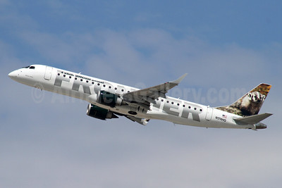 Frontier Airlines (2nd)-Republic Airlines (2nd) Embraer ERJ 190-100 IGW N174HQ (msn 19000211) (Wisconsin Badger) LAX (Ron Monroe). Image: 940357.