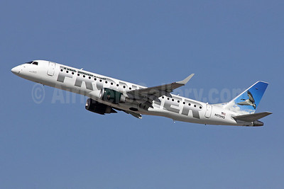 Frontier Airlines (2nd)-Republic Airlines (2nd) Embraer ERJ 190-100 IGW N175HQ (msn 19000216) (Canada Goose) LAX (Michael B. Ing). Image: 907803.