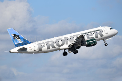 Frontier Airlines (2nd) Airbus A320-214 N205FR (msn 4253) (Orca) MIA (Bruce Drum). Image: 104315.