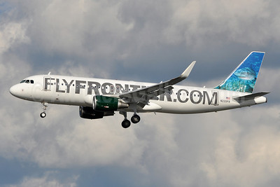FlyFrontier.com (Frontier Airlines 2nd) Airbus A320-214 WL N220FR (msn 5661) (Sharklets) (Tiger Shark) DCA (Tony Storck). Image: 913296.