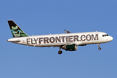 FlyFrontier.com (Frontier Airlines 2nd) Airbus A320-214 N221FR (msn 3205) (Tree Frog) DCA (Brian McDonough). Image: 922199.