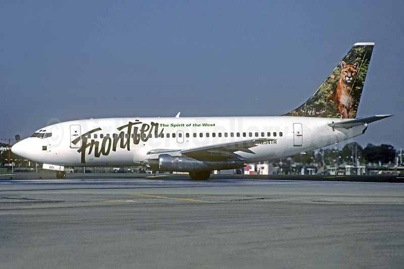 Frontier Airlines (2nd) Boeing 737-228 N234TR (msn 23004) (Mountain Lion) LAX (Christian Volpati Collection). Image: 937916.