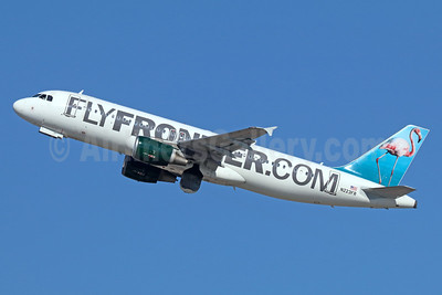 FlyFrontier.com (Frontier Airlines 2nd) Airbus A320-214 N223FR (msn 2695) (Flamingo) LAX (Michael B. Ing). Image: 935946.