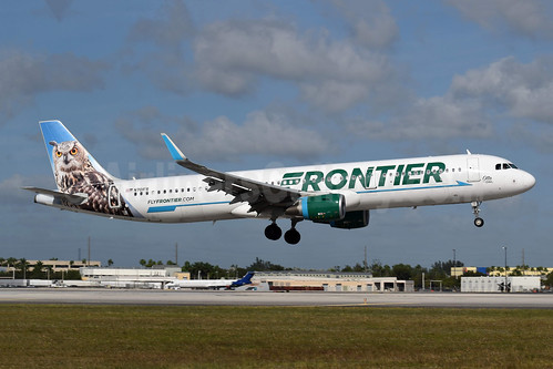 1st Frontier A321, Otto, the Owl, become N701FR