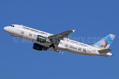 Frontier Airlines (2nd) Airbus A320-214 N213FR (msn 4704) (Elk) LAX (Michael B. Ing). Image: 935947.