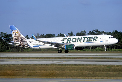 Frontier Airlines (2nd) Airbus A321-211 WL N701FR (msn 6793) (Owl) (Jacques Guillem Collection). Image: 936802.