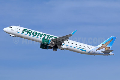 Frontier Airlines (2nd) Airbus A321-211 WL N710FR (msn 7179) (Falcon) LAX (Michael B. Ing). Image: 940354.