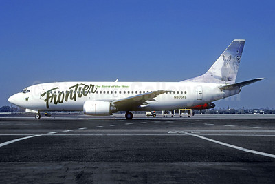 Frontier Airlines (2nd) Boeing 737-36N N306FL (msn 28563) LAX (TMK Photography). Image: 940926.