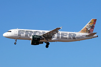 Frontier Airlines (2nd) Airbus A320-214 N201FR (msn 3389) (Caribou) LAX (Michael B. Ing). Image: 935951.
