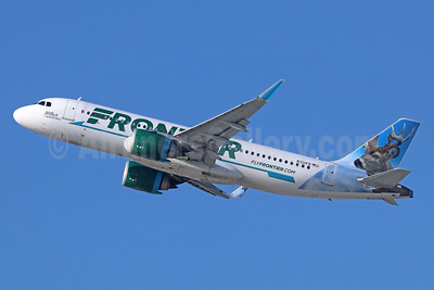 Frontier Airlines (2nd) Airbus A320-251N WL N301FR (msn 7141) (Wilbur, the Whitetail) LAX (Michael B. Ing). Image: 939534.