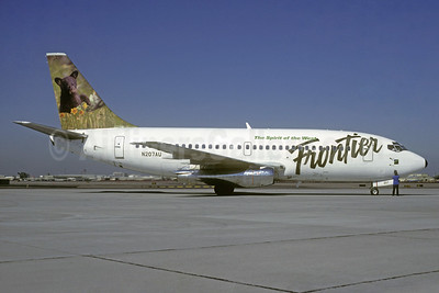 Frontier Airlines (2nd) Boeing 737-201 N207AU (msn 19423) (Bear Cub) DEN (Christian Volpati Collection). Image: 937909.
