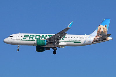 Frontier Airlines (2nd) Airbus A320-214 WL N227FR (msn 6184) (Grizwald, the Bear) LAX (Michael B. Ing). Image: 935949.