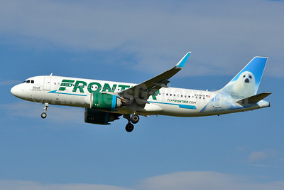 Frontier Airlines (2nd) Airbus A320-251N WL N338FR (msn 8402) (North, the Harp Seal) PHL (Tony Storck). Image: 944794.