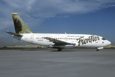 Frontier Airlines (2nd) Boeing 737-201 N212US (msn 20212) (Bison) PHX (Bob Shane - Christian Volpati Collection). Image: 937911.