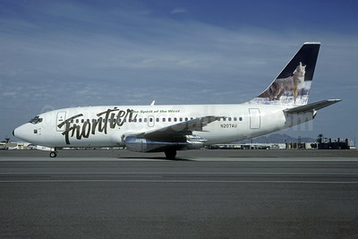 Frontier Airlines (2nd) Boeing 737-201 N207AU (msn 19423) (Wolf) PHX (Bob Shane - Christian Volpati Collection). Image: 937910.