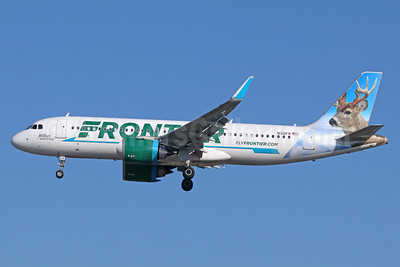Frontier Airlines (2nd) Airbus A320-251N WL N301FR (msn 7141) (Wilbur, the Whitetail) SNA (Michael B. Ing). Image: 938867.